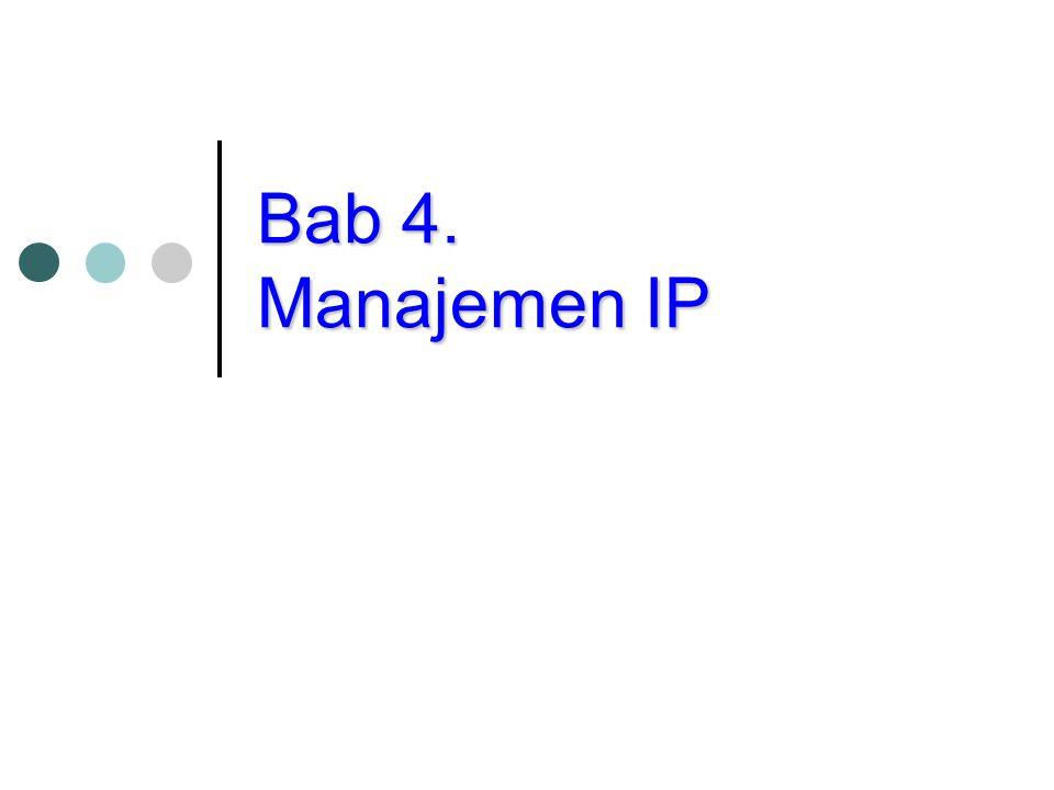 Kategori Pengalamatan IP Ada 3 macam kategori pengalamatan IP, yaitu: - Classfull Addressing (conventional): pengalamatan berdasarkan kelas, tanpa perlu ada subnetting.