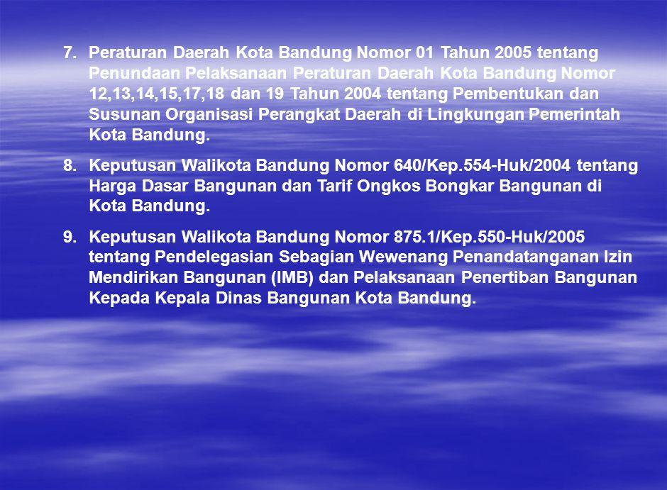 7.Peraturan Daerah Kota Bandung Nomor 01 Tahun 2005 tentang Penundaan Pelaksanaan Peraturan Daerah Kota Bandung Nomor 12,13,14,15,17,18 dan 19 Tahun 2