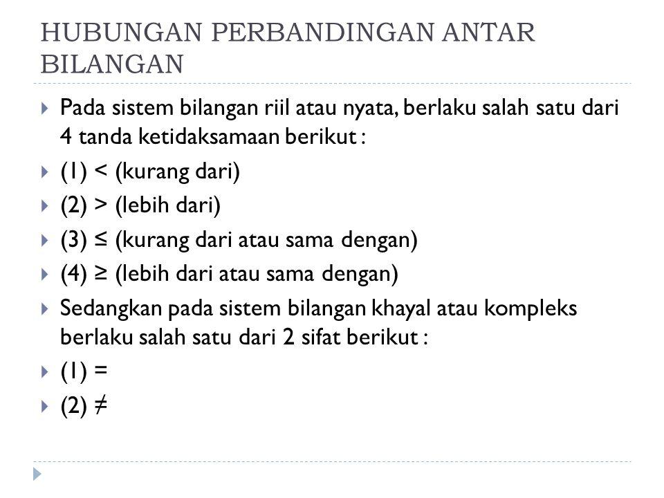 OPERASI BILANGAN  (1) KAIDAH KOMUTATIF  a + b = b + a  a x b = b x a  (2) KAIDAH ASOSIATIF  (a + b) + c = a + (b + c)  (ab) c = a (bc)  (3) KAIDAH PEMBATALAN  a + c = b + c  ac = bc ( c ≠ 0)  (4) KAIDAH DISTRIBUTIF  a(b + c) = ab + ac  (5) UNSUR PENYAMA  a + 0 = a  a.