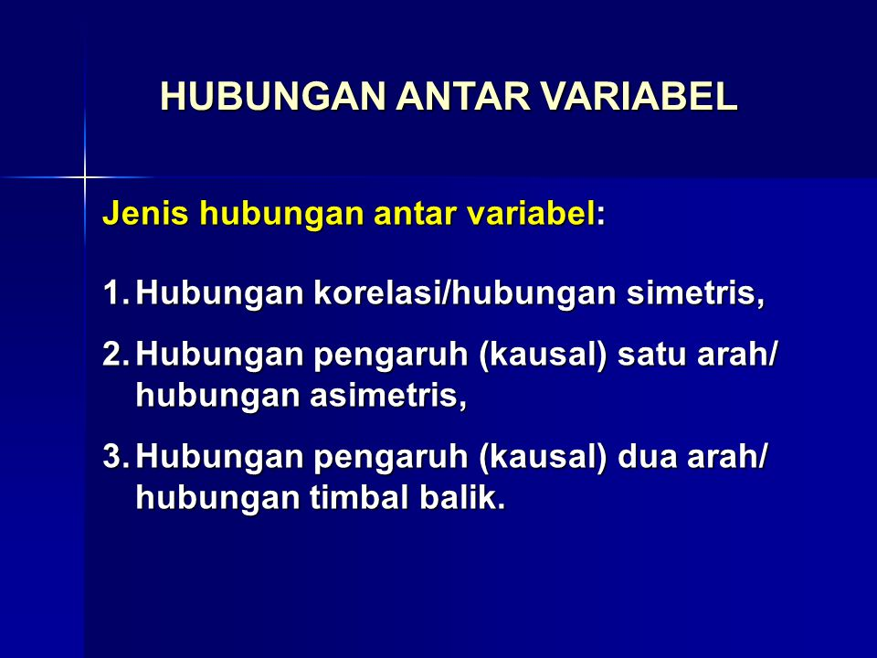 a.Kedua variabel merupakan indikator untuk konsep yang sama 1.