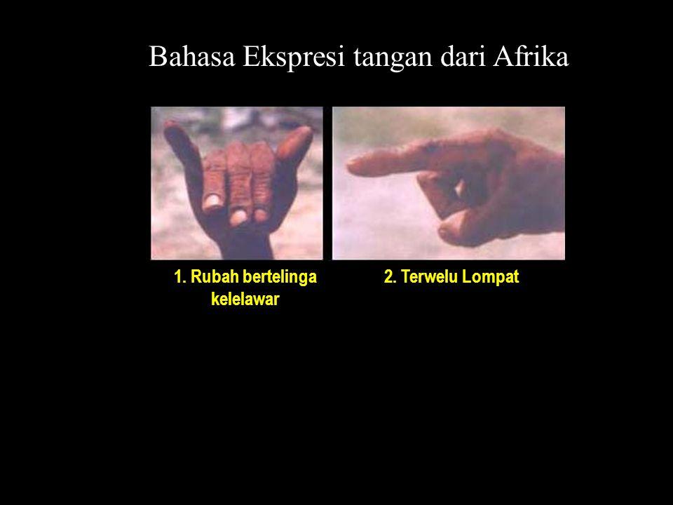 Bahasa Ekspresi tangan dari Afrika 1. Rubah bertelinga kelelawar 2. Terwelu Lompat
