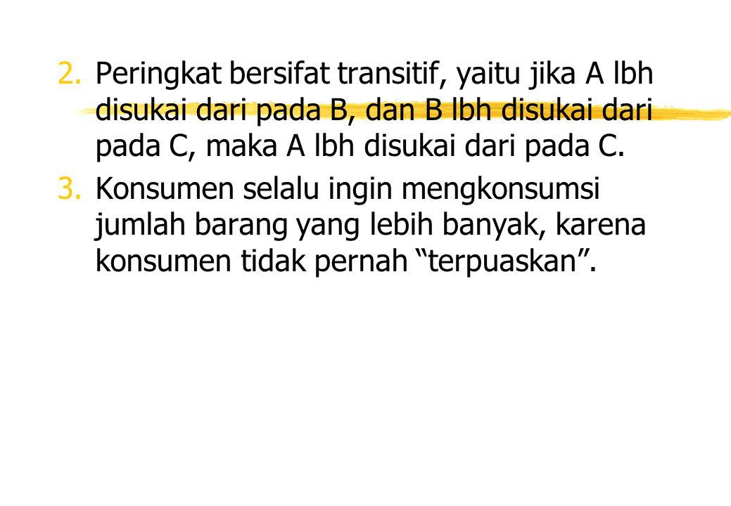 Efek Substitusi Efek Substitusi adalah perubahan konsumsi karena adanya perubahan harga yang menggerakkan konsumen sepanjang kurva indiferen tersebut dengan tingkat substitusi marjinal yang baru.