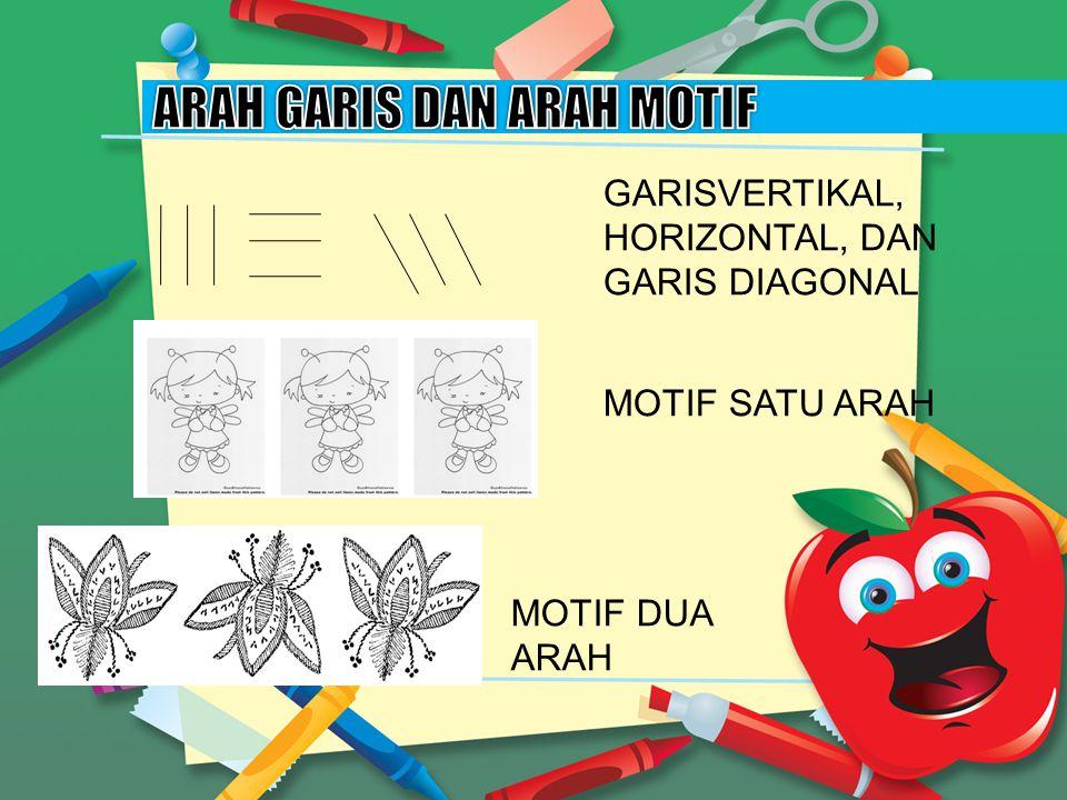 GARISVERTIKAL, HORIZONTAL, DAN GARIS DIAGONAL MOTIF SATU ARAH MOTIF DUA ARAH