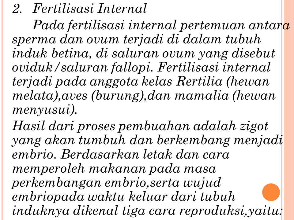 Hal-hal yang tidak menguntungkan bagi terjadinya fertilisasi eksternal antara lain: a. Arus air yang deras b. Hewan pemakan telir (predator) c. Pelepa