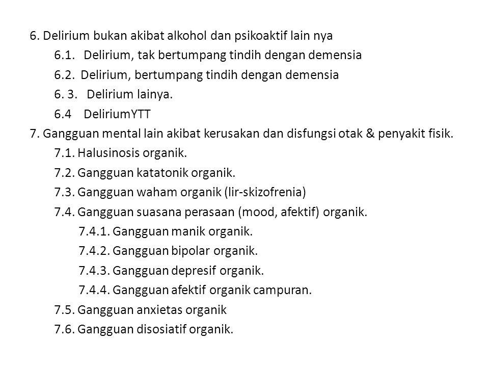 6.Delirium bukan akibat alkohol dan psikoaktif lain nya 6.1.