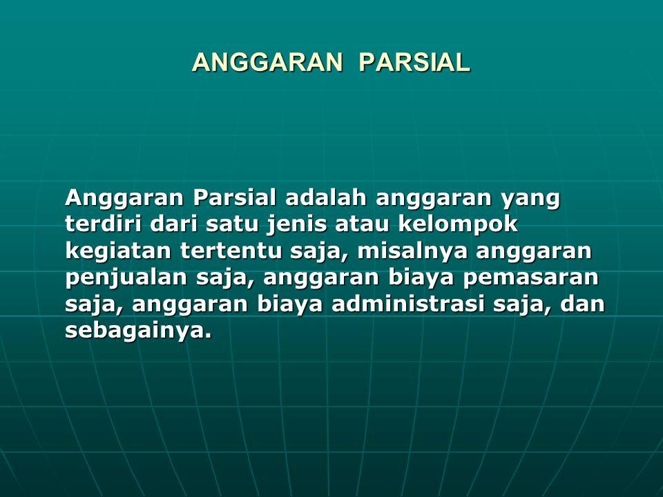 Anggaran Komprehensif adalah keseluruhan anggaran yang terdiri dari gabungan anggaran-anggaran parsial di dalam suatu periode waktu tertentu.