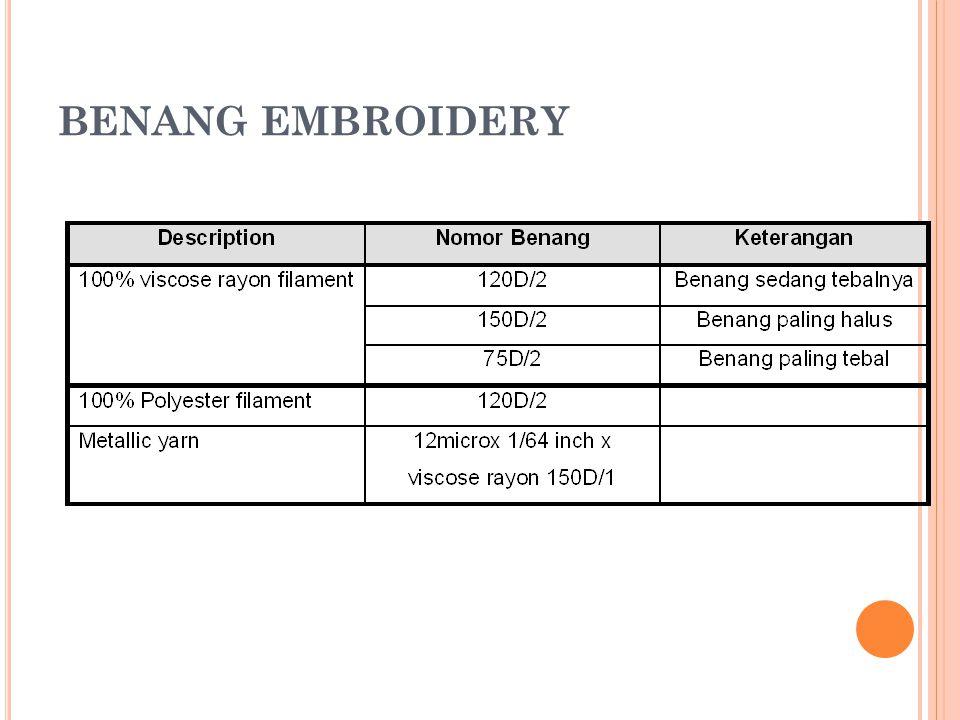 BENANG EMBROIDERY