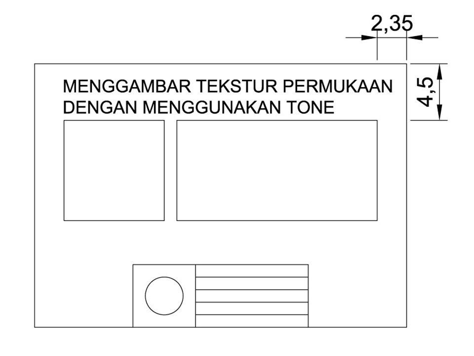 Contoh Hasil Penggambaran Tekstur dengan Tone KIRI: CLOSE UP DETAIL TEKSTUR KANAN: OBYEK LENGKAP DENGAN TEKSTUR SECARA DETAIL