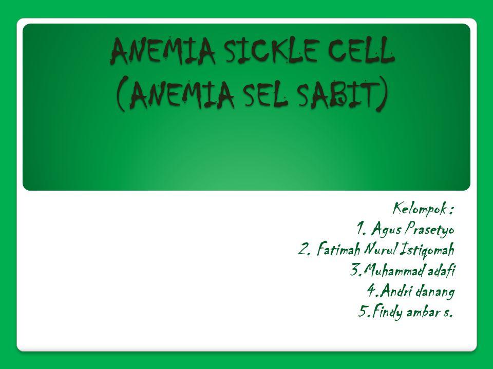 ANEMIA SICKLE CELL (ANEMIA SEL SABIT) Kelompok : 1.