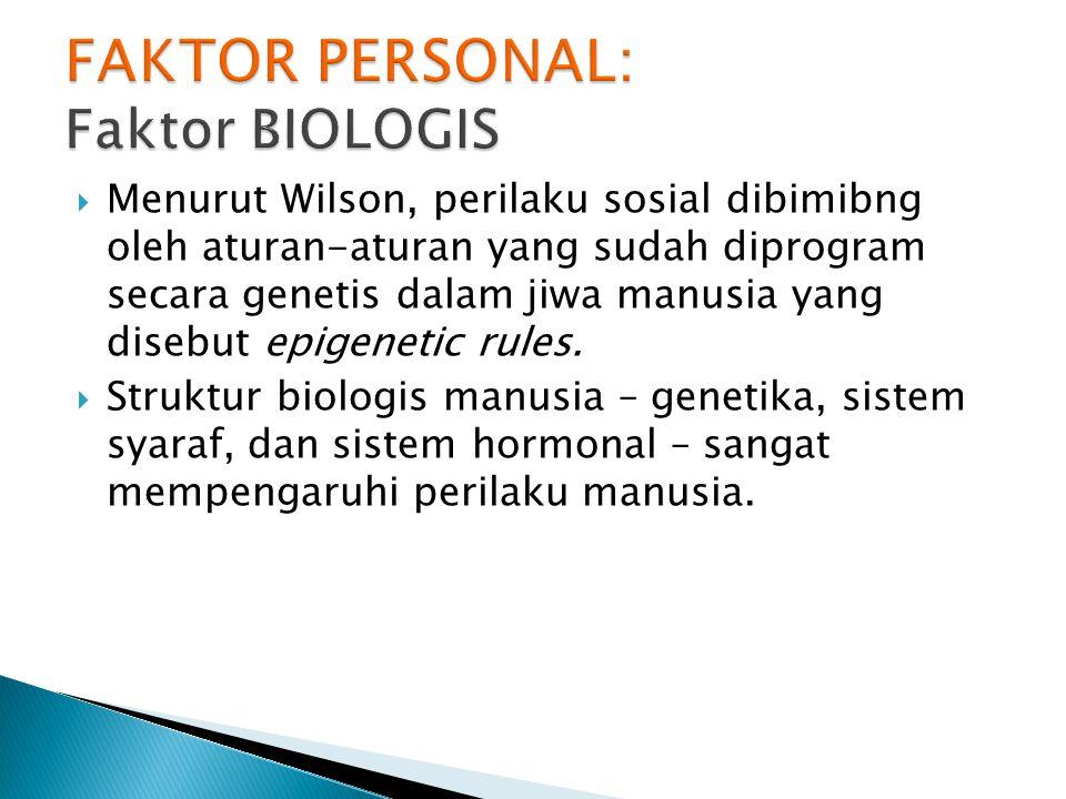  Struktur genetis: mempengaruhi kecerdasan, kemampuan sensasi, dan emosi.
