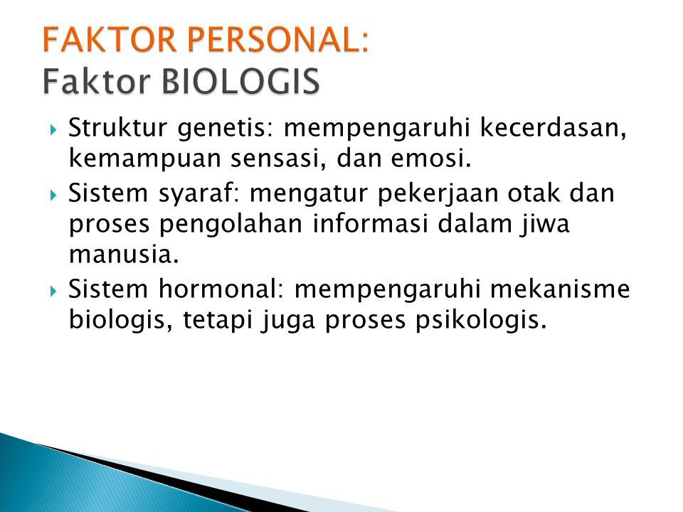  Menekankan pada pengaruh struktur biologis terhadap perilaku manusia.