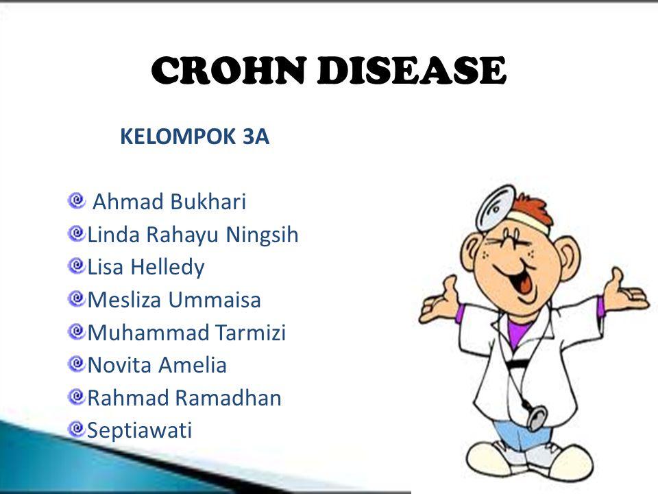 Definisi Merupakan penyakit inflamasi kronis transmural pada saluran cerna dengan etiologi tidak diketahui.