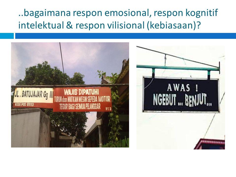 ..bagaimana respon emosional, respon kognitif intelektual & respon vilisional (kebiasaan)?