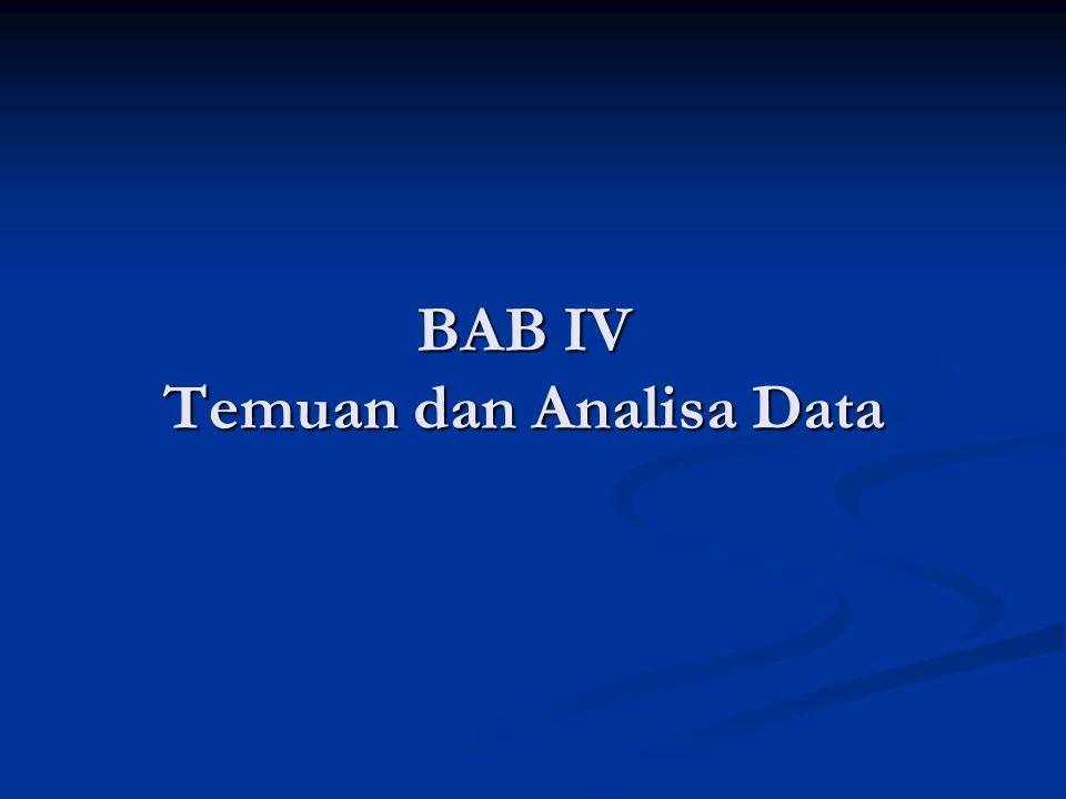 BAB IV Temuan dan Analisa Data