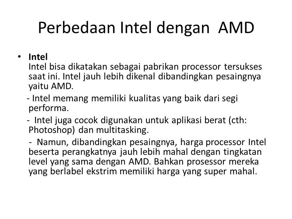 AMD Kurang dikenal oleh sebagian orang menjadi salah satu kelemahan AMD.