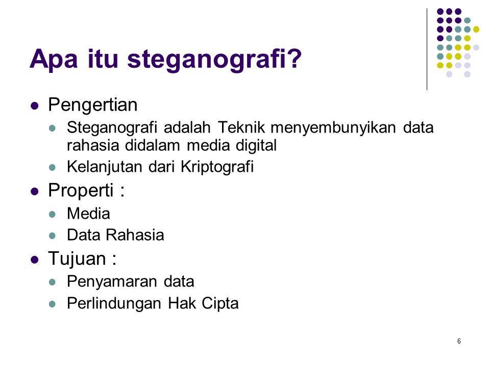 Apa itu steganografi.