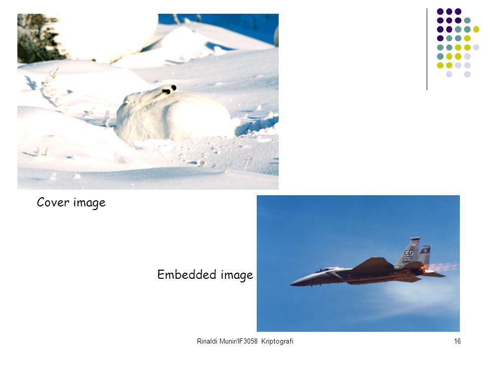 Rinaldi Munir/IF3058 Kriptografi16 Cover image Embedded image