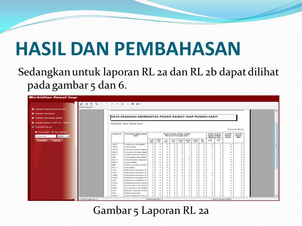 HASIL DAN PEMBAHASAN Sedangkan untuk laporan RL 2a dan RL 2b dapat dilihat pada gambar 5 dan 6. Gambar 5 Laporan RL 2a