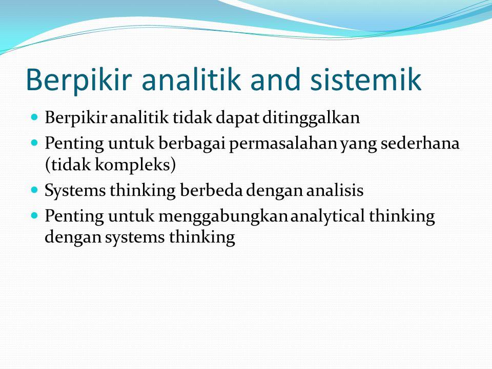 Analisis Cara terbaik untuk memahami sesuatu? Mengurai sesuatu atas bagian-bagiannya Contoh: mengurai jam atas komponen-komponennya, air menjadi atom