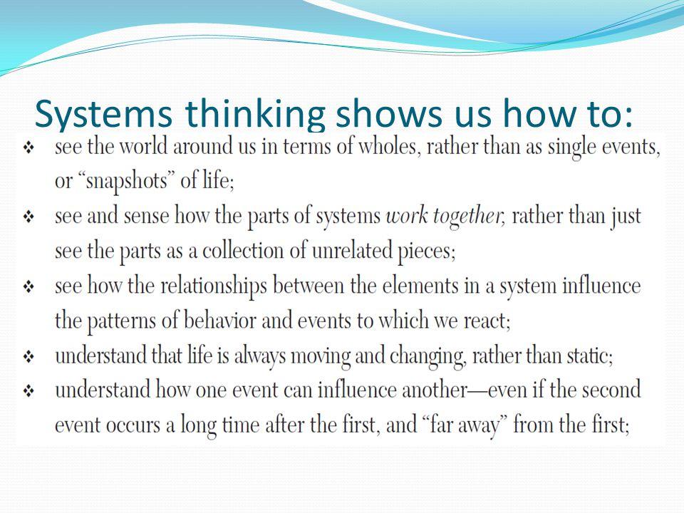 Berpikir analitik and sistemik Berpikir analitik tidak dapat ditinggalkan Penting untuk berbagai permasalahan yang sederhana (tidak kompleks) Systems