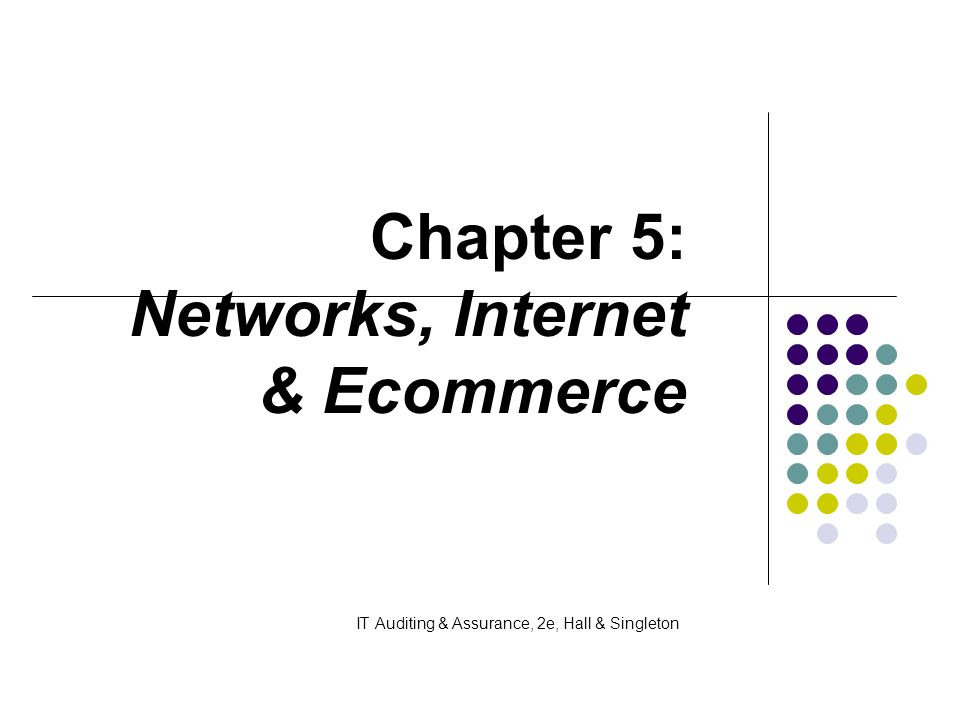 Chapter 5: Networks, Internet & Ecommerce IT Auditing & Assurance, 2e, Hall & Singleton