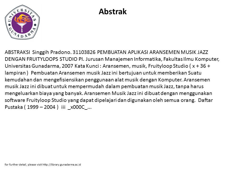 Abstrak ABSTRAKSI Singgih Pradono.