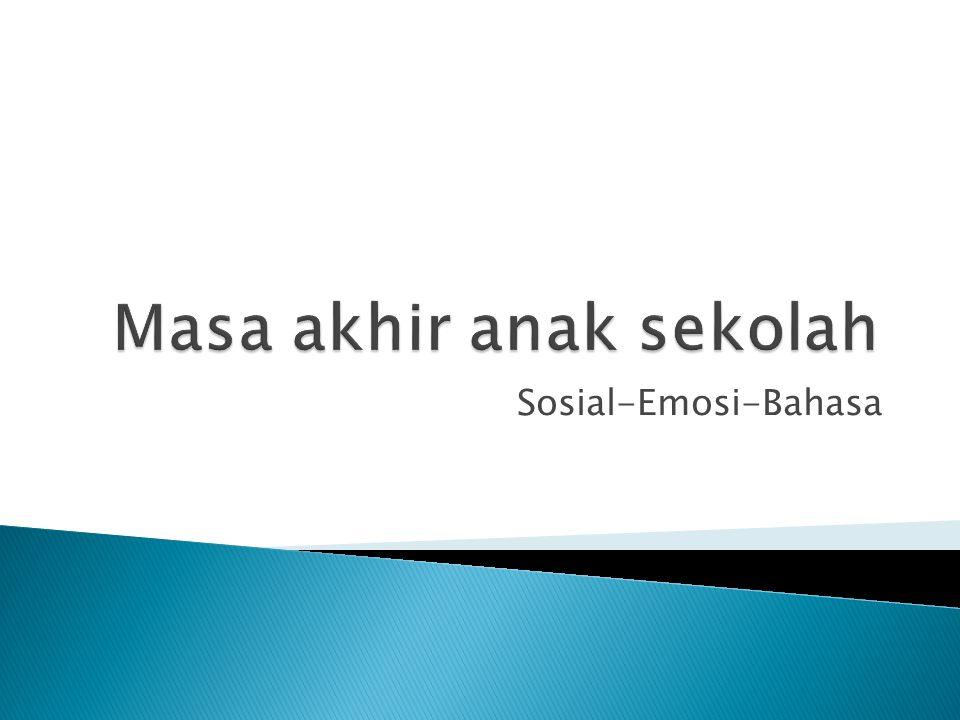 Sosial-Emosi-Bahasa