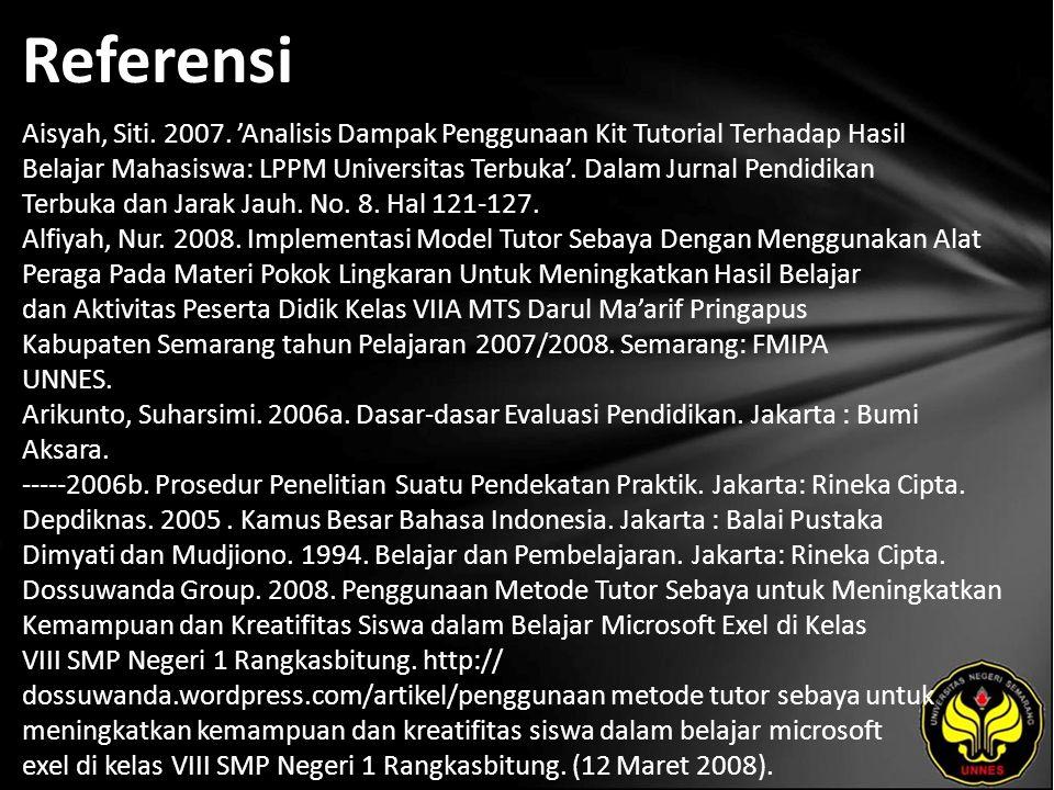 Referensi Aisyah, Siti. 2007.