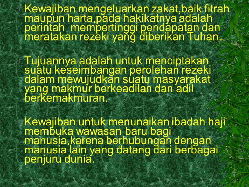  2.Kewajiban kedua dalam rangka pelaksanaan takwa adalah kewajiban terhadap diri sendiri,menjaga dan memelihara diri,agar tidak melakukan sesuatu yang dilarang Allah.misalnya: (a) mencari rezeki dengan berjudi (b) meminum minuman yang berpotensial memabukkan, (c) memakan makanan haram (d ) melangkahkan kaki ketempat- tempat maksiat (e) berkata sia-sia yang menimbulkan bencana,dan (f) melakukan perbuatan-perbuatan lain yang merendahkan martabat manusia sebagai makhluk yang telah dimuliakan Allah.