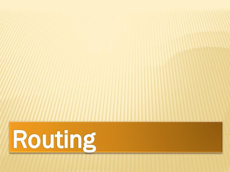  Routing adalah proses pengiriman informasi/data dari pengirim di suatu jaringan ke penerima yang berada di jaringan yang lain (melalui internetwork).