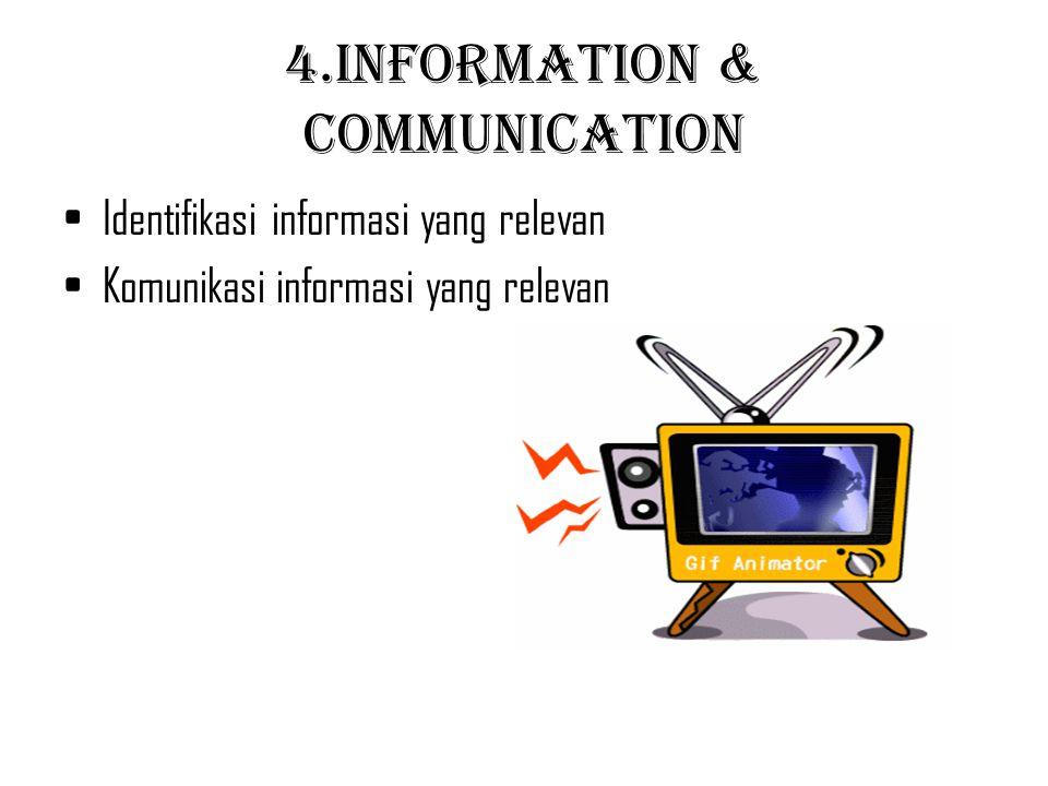 4.Information & Communication Identifikasi informasi yang relevan Komunikasi informasi yang relevan