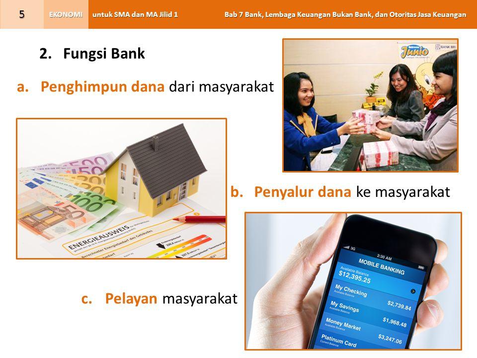 untuk SMA dan MA Jilid 1 Bab 7 Bank, Lembaga Keuangan Bukan Bank, dan Otoritas Jasa Keuangan EKONOMI 26 F.