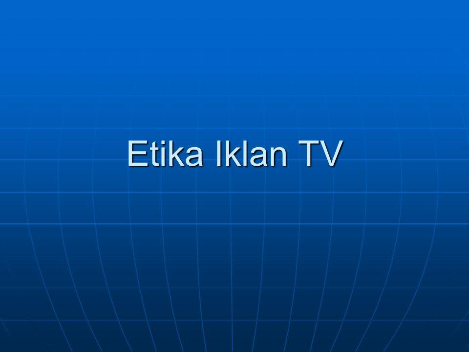 Etika Iklan TV