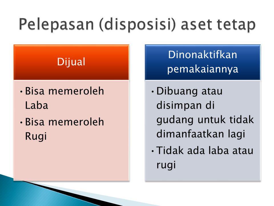 Contoh: Diketahui suatu aset tetap berupa mobil kantor diperoleh senilai Rp 150.000.000,-.