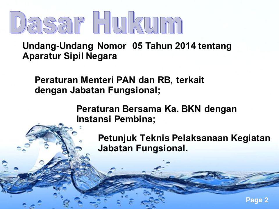 Page 2 Undang-Undang Nomor 05 Tahun 2014 tentang Aparatur Sipil Negara Peraturan Menteri PAN dan RB, terkait dengan Jabatan Fungsional; Peraturan Bers