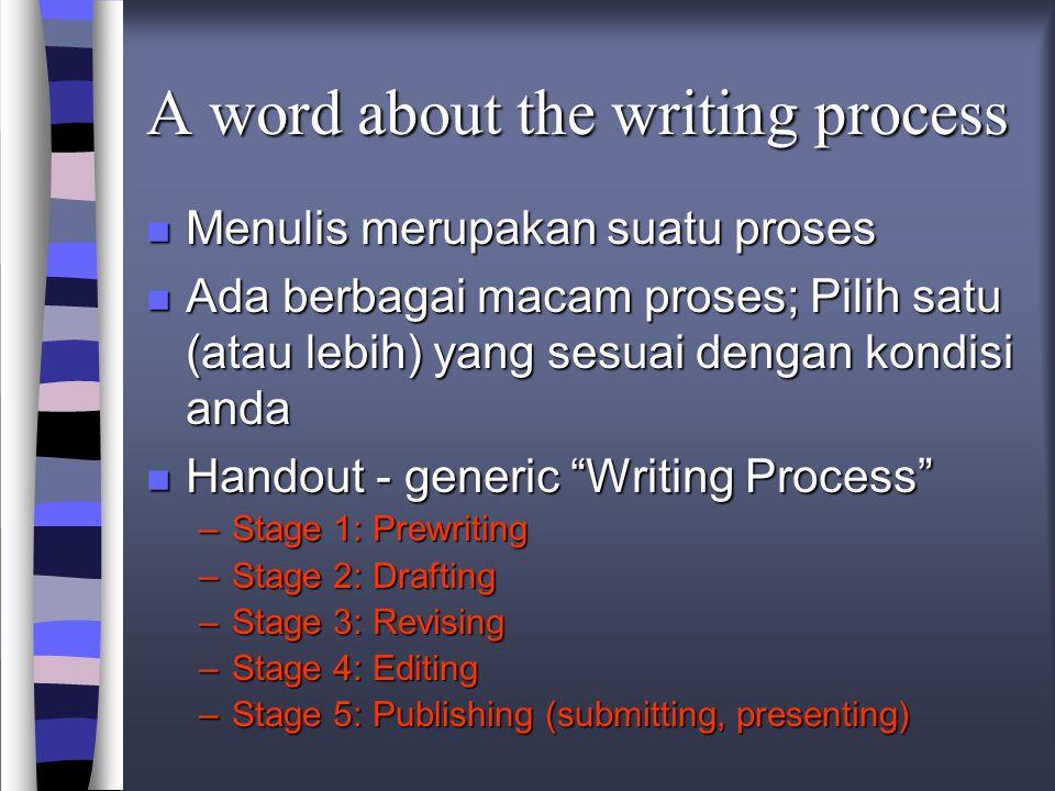 Langkah-langkah konstruksi karya tulis 9.