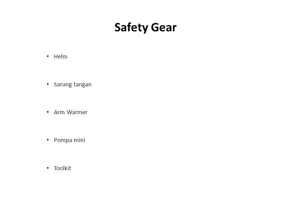 Safety Gear Helm Sarung tangan Arm Warmer Pompa mini Toolkit
