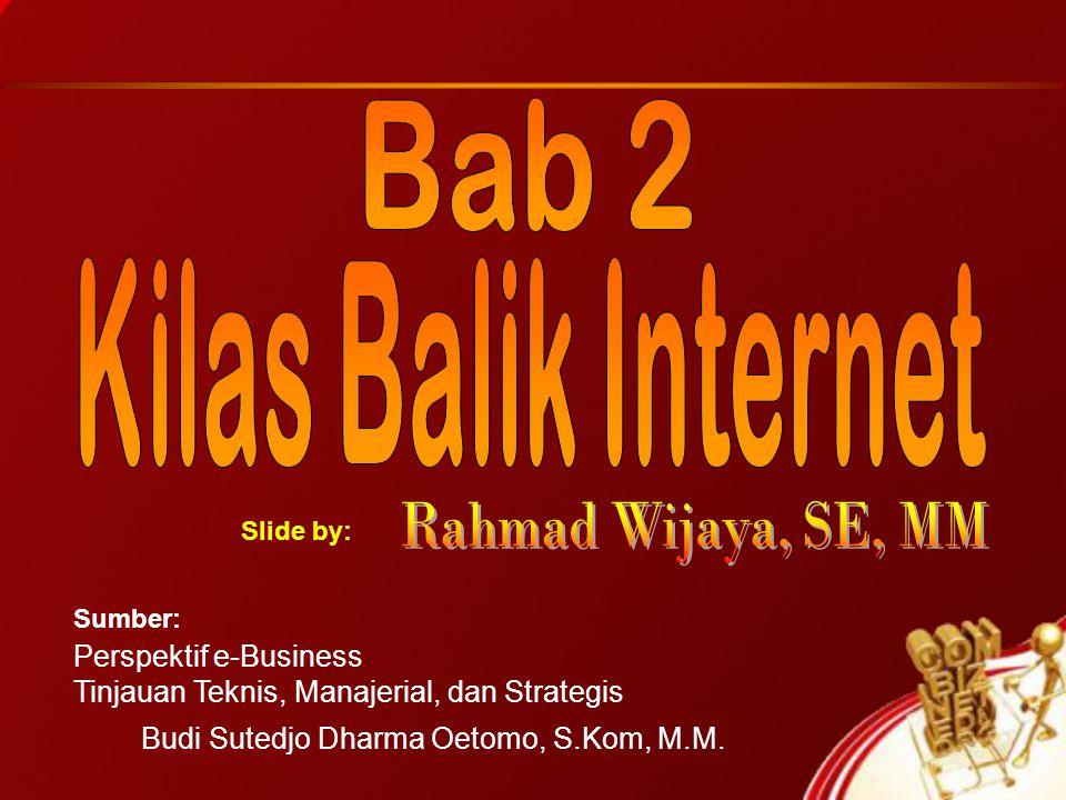 Perspektif e-Business Tinjauan Teknis, Manajerial, dan Strategis Budi Sutedjo Dharma Oetomo, S.Kom, M.M. Sumber: Slide by: