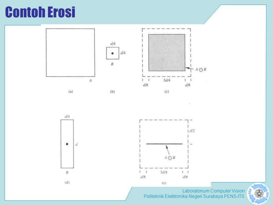 Laboratorium Computer Vision Politeknik Elektronika Negeri Surabaya PENS-ITS Contoh Erosi