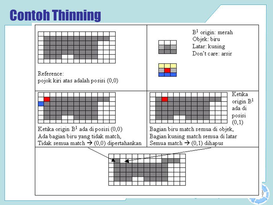 Laboratorium Computer Vision Politeknik Elektronika Negeri Surabaya PENS-ITS Contoh Thinning