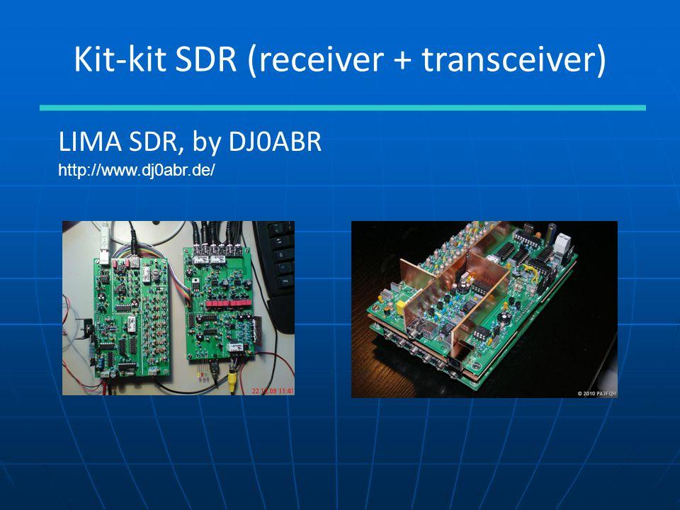 Kit-kit SDR (receiver + transceiver) LIMA SDR, by DJ0ABR http://www.dj0abr.de/