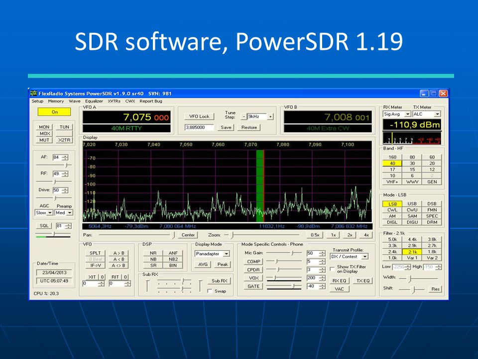 SDR software, PowerSDR 1.19