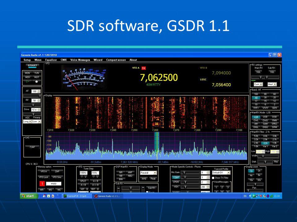 SDR software, GSDR 1.1