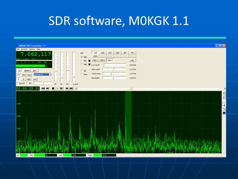 SDR software, M0KGK 1.1