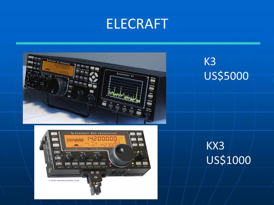 ELECRAFT K3 US$5000 KX3 US$1000