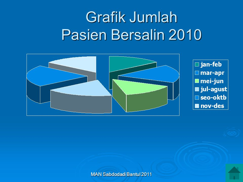 MAN Sabdodadi Bantul 2011 Grafik Jumlah Pasien Bersalin 2010