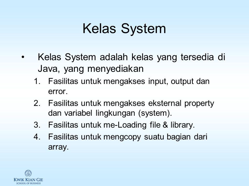 Menulis program Java 1.Setiap program Java dikenal sebagai class. Nama file harus sesuai dengan nama class. 2.Java program harus memiliki 1 method mai