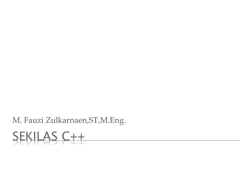 M. Fauzi Zulkarnaen,ST,M.Eng.