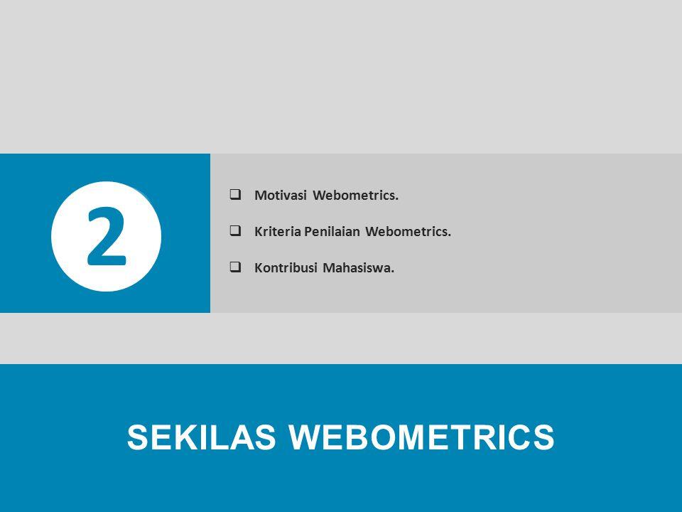 Captive Portal, User Access, Setting Proxy, Cyber Mahasiswa, IMOVSES, HotSpot (WiFi), SIM IPB SEKILAS WEBOMETRICS 2  Motivasi Webometrics.  Kriteria