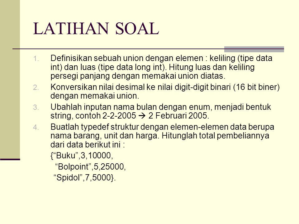 LATIHAN SOAL 1.